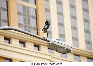 luz, câmera, tráfego, rua
