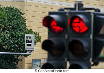 luz, câmera, tráfego, vermelho