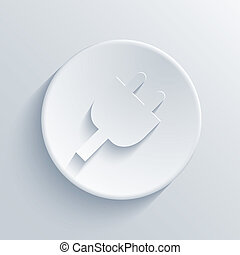 luz, círculo, vetorial, eps10, icon.