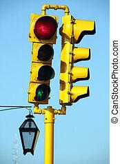 luz, calle, amarillo