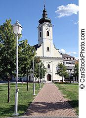 luz, calle, iglesia