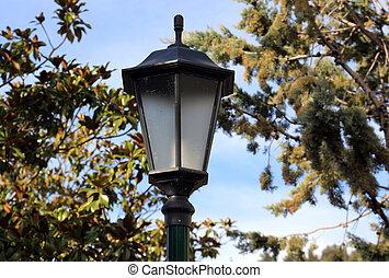 luz, calle, pasado de moda