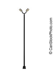 luz, calle, pole.
