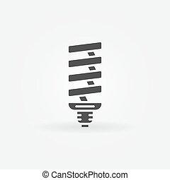 luz, cfl, bulbo, ícone
