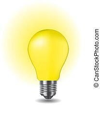 luz, clássicas, brilhante, bulbo