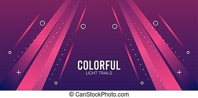luz colorida, fondo rosa, rastro
