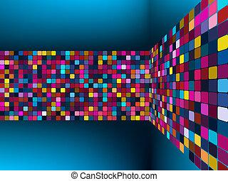 luz colorida, vector, fondo., eps, 8