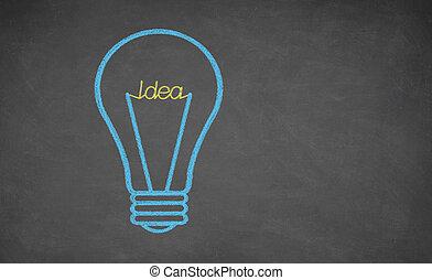 luz, conceito, -, idéia, bulbo