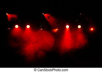 luz, concerto, mostrar