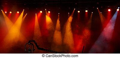luz, concierto, exposición