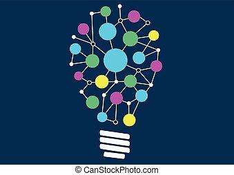 luz, creatividad, ideas, bombilla