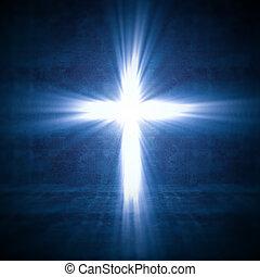 luz, crucifixos