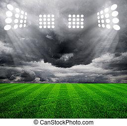 luz, de, estadio