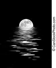 luz de la luna, belleza