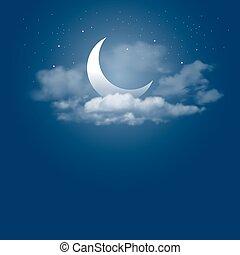 luz de la luna, noche