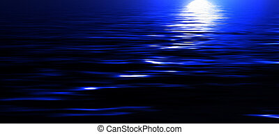luz de la luna, reflexión