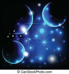 luz de las estrellas, plano de fondo