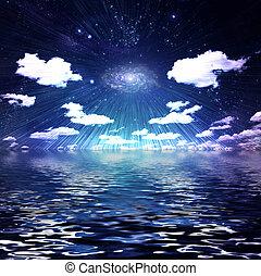 luz de las estrellas