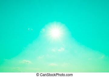 luz del sol, con, cielo, plano de fondo