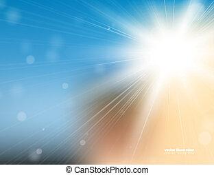luz del sol, plano de fondo
