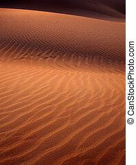 luz, detalle, duna, arena, ocaso, sombra