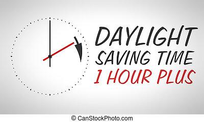 luz dia, poupar, tempo