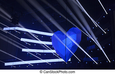 luz, em, a, teatro, um, concert.