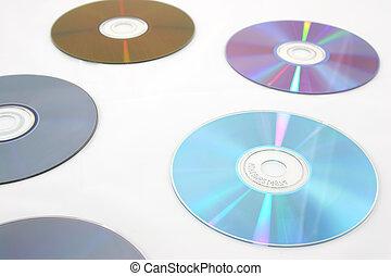 luz, encima, aislado, reflexiones, ella/los/las de cd,...