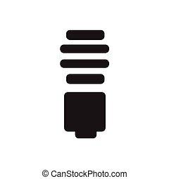 luz, energia, poupar, bulbos, ícone
