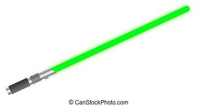 luz, espada, sólido, verde