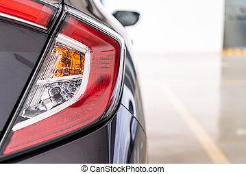 luz, espalda, coche