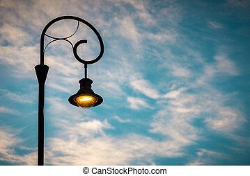 luz, europe., rua, pôr do sol, budapest