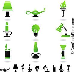 luz, fontes