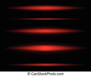 luz, horizontais, enfraquecendo, transparente, vigas