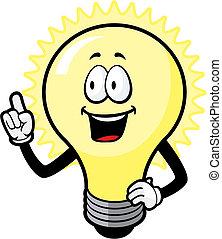 luz, idea, bombilla