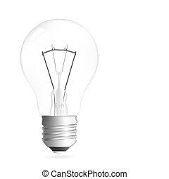 luz, ilustração, bulbo