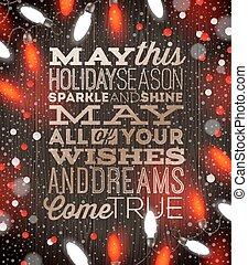 luz, -, ilustração, vetorial, desenho, feriado, tipo, natal