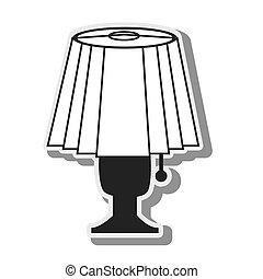 luz, lâmpada, desenho, elétrico