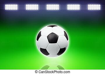 luz, luminoso, bola futebol