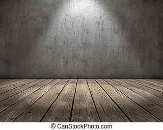 luz, madera, punto, piso
