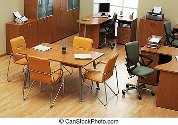 luz, modernos, escritório