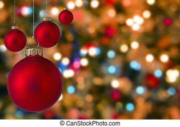 luz, navidad, Baratijas, Plano de fondo, confuso