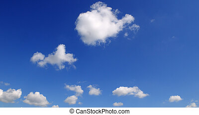 luz, nuvens, em, a, azul, sky.