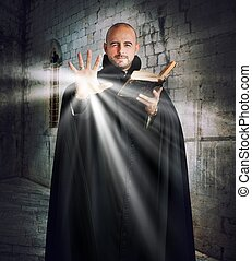 luz, padre, desligado, dá