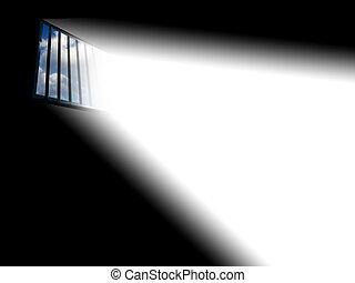 luz, por, la