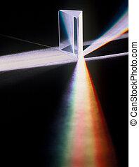 luz, prisma, por, refractado
