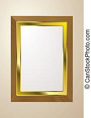 luz, quadro, madeira, quadro