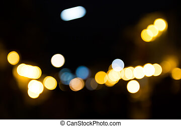 luz, resumen, calle, bokeh