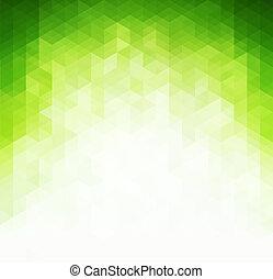 luz, resumen, fondo verde