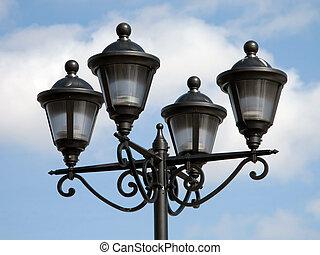 luz, rua, equipamento